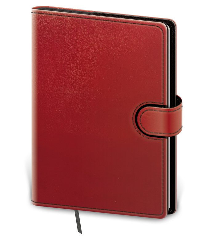 Flip - Notebook Flip L dot grid red/black