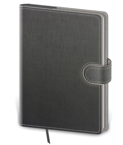 Flip - Notebook Flip L lined grey/grey