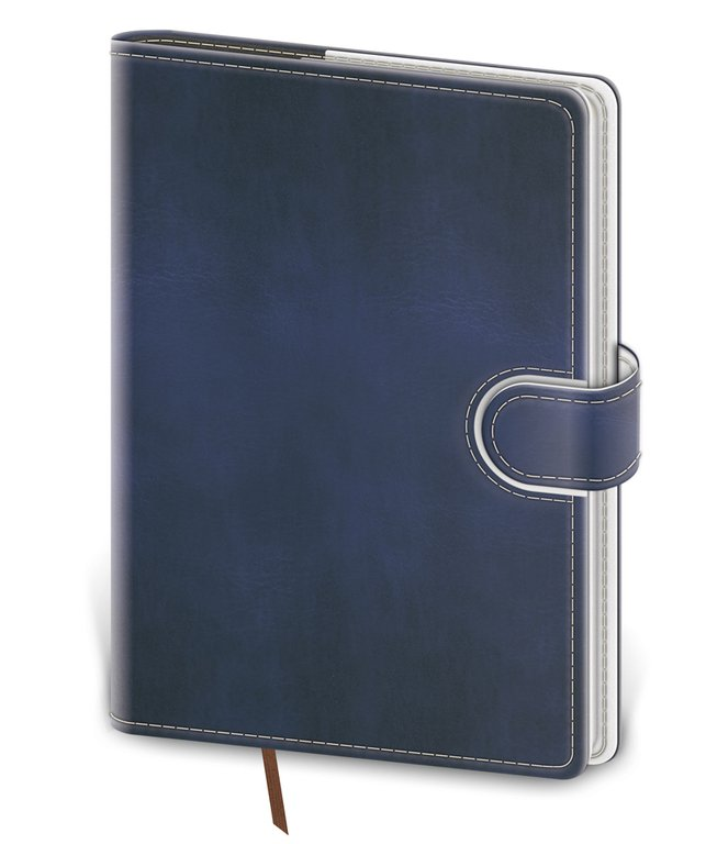 Flip - Notebook Flip L lined blue/white