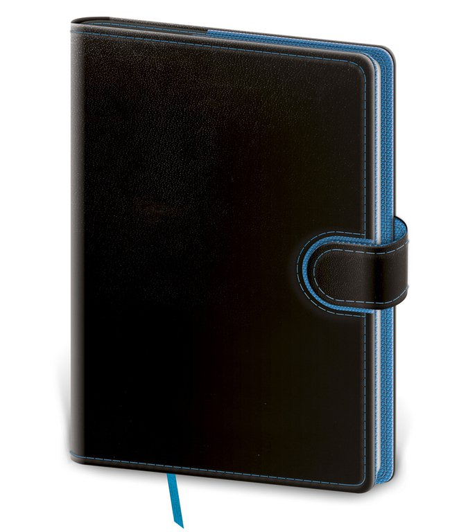 Flip - Notebook Flip L lined black/blue