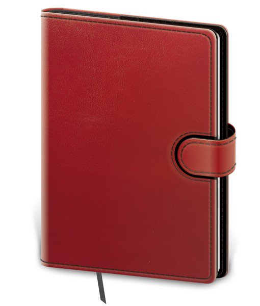 Flip - Notebook Flip M dot grid red/black