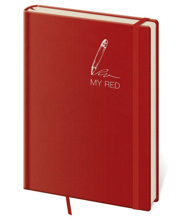 Vario - Notizbuch My Red L liniert