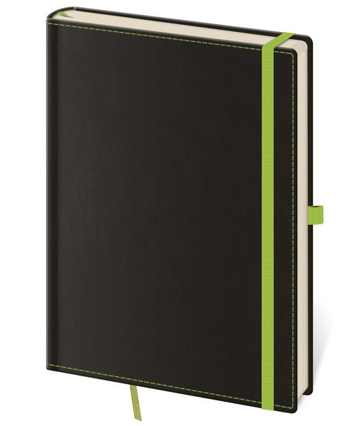 Flip - Notizbuch Black Green L blanko