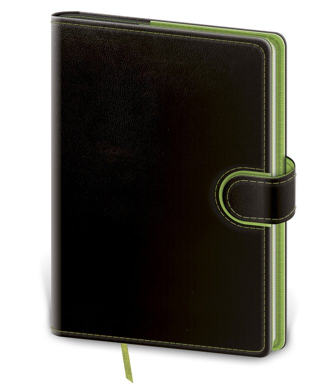 Flip - Notebook Flip M lined black/green