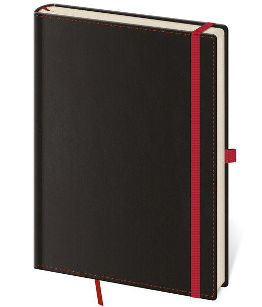 Flip - Notizbuch Black Red L blanko