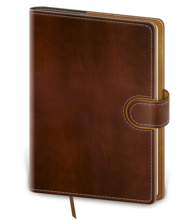 Flip - Notebook Flip M dot grid brown/brown