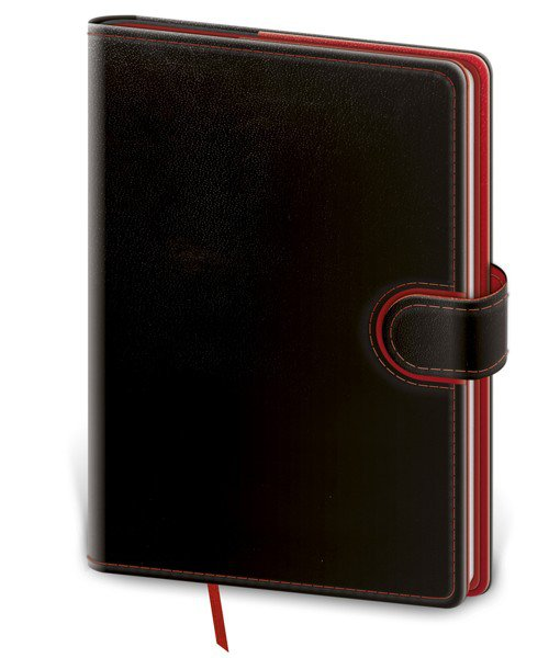 My Black, White, Red - Notizbuch Flip L blanko schwarz/rot