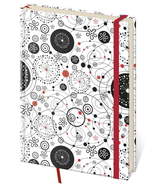My Black, White, Red - Notizbuch Vario S punktraster Design 9