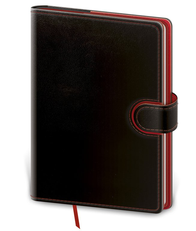 Flip - Notebook Flip M lined black/red