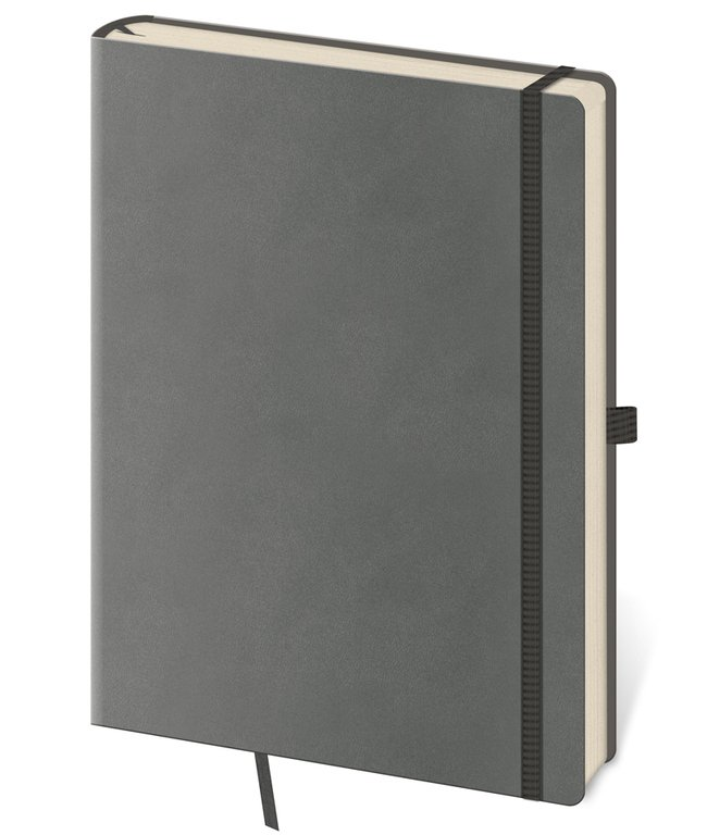 Flip - Notebook Flexies L lined grey