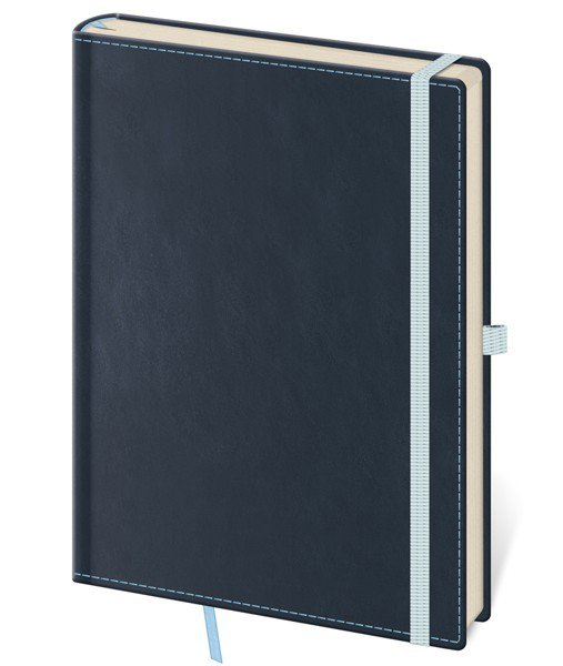 Flip - Notebook Double Blue L blank