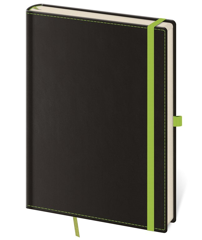 Vario - Notizbuch Black Green L blanko